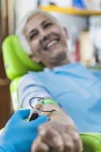 woman receiving regenerative medicine therapy